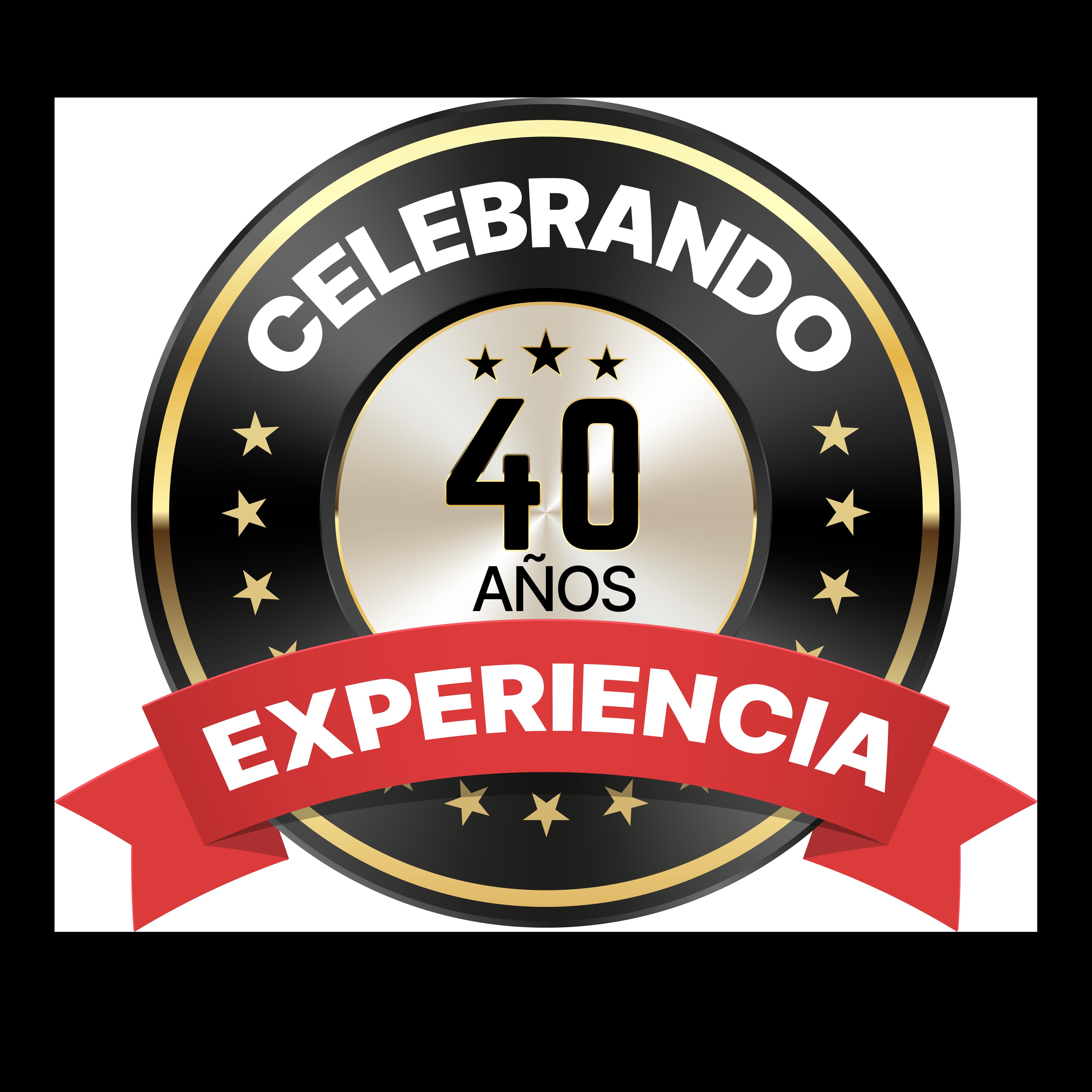 Logo especial de CALELEC para celebrar los 40 años