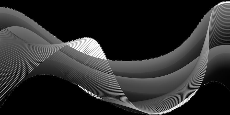 representación grafica de una onda calefactora de aire caliente viajando por el aire