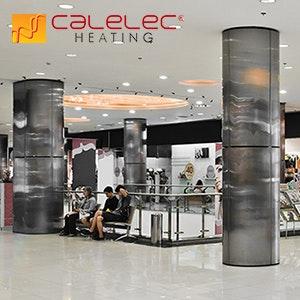 sistema de calefaccion en plaza comercial